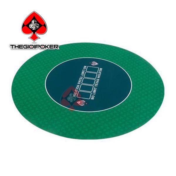 Thảm poker cao su tròn xanh lá game land nhập khảu chính hãng