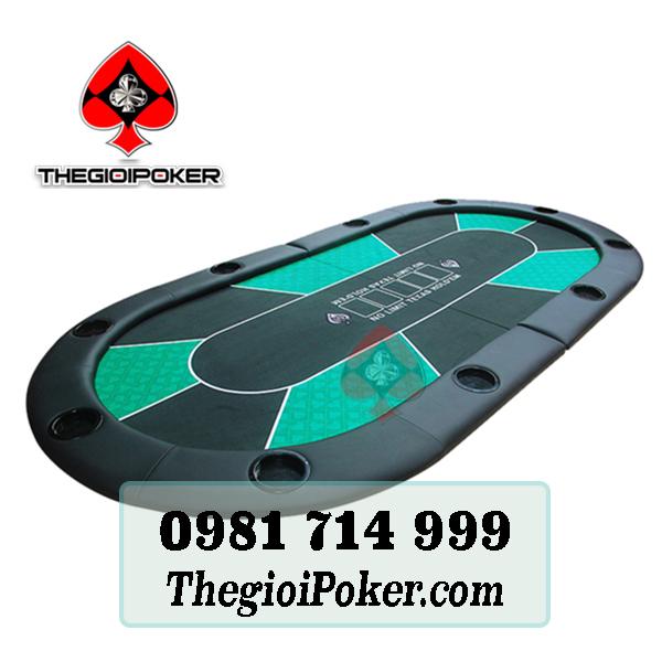 Bàn poker nhỏ gọn 1mx2m có thể gập đôi dễ dàng