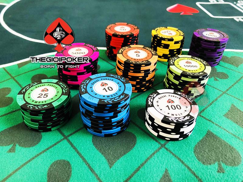 Bộ phỉnh poker royal clay set