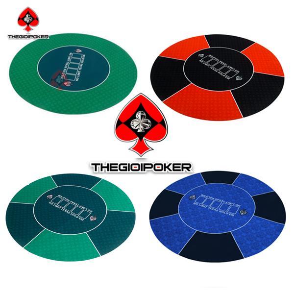 thảm poker cao su tron cao cap đẳng cấp quốc tế