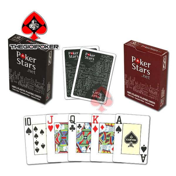 Bài nhựa poker Stars net deck 100% Plastic