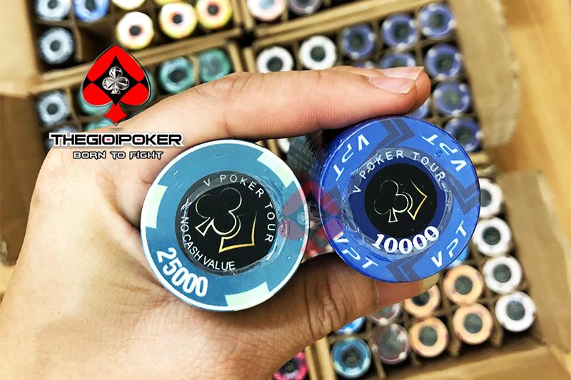 Chip Poker đươc TheGioiPoker thiết kế dành riêng cho Victory poker club được làm từ Ceramic rất đẹp