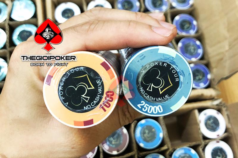 Lấy cảm hưng từ giải đấu EPT cao cấp, TheGioiPoker đã thiết kế chip poker ceramic 1 cách tinh tế và xuất sắc