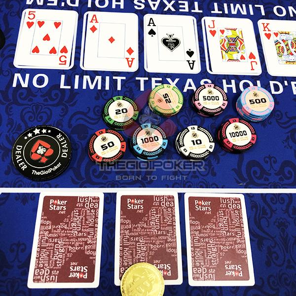 Custom chip poker thiết kế riêng cho club KB tại Việt Nam