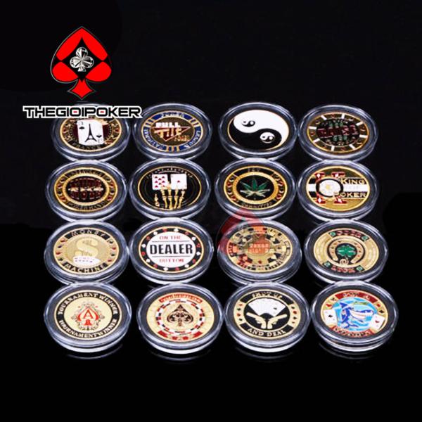 Xu Poker Card guard kim loại chặn bài