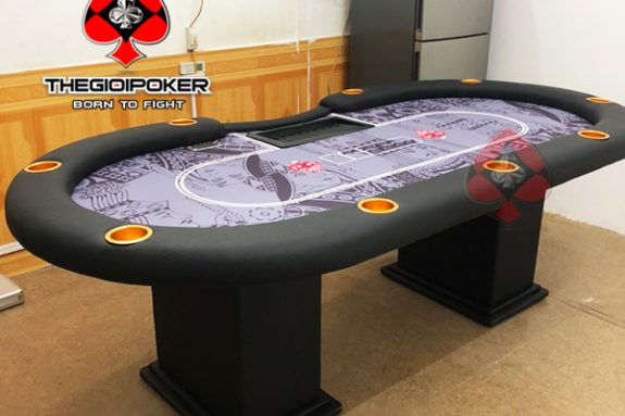 Bàn Poker cao cấp B5 được lắp đặt hoàn thiện bởi THEGIOIPOKER