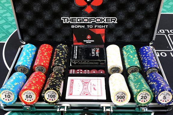 CHip poker set 300 phỉnh poker world series poker chất liệu clay cao cấp