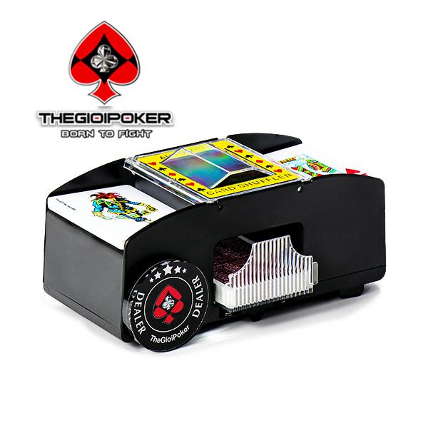 Máy xáo bài 2 bộ bài nhựa poker chống gian lận và nâng cao đẳng cấp cuộc chơi