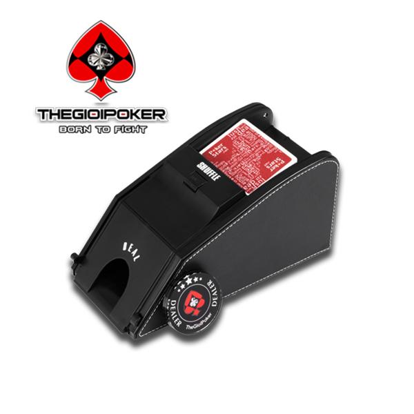 Máy Xáo Bài và chia bai 2 trong một cao cấp Deluxe 2In1 được nhập khẩu bởi ThegioiPOker
