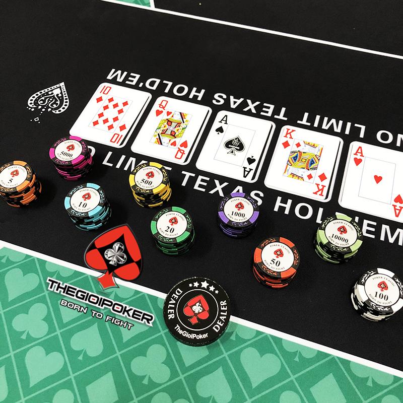 Phỉnh poker classic được làm từ chất liệu clay cao cấp rất đẹp
