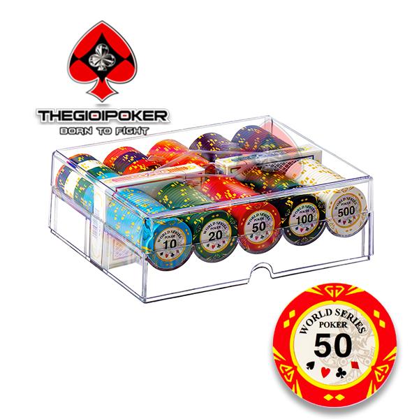 Phỉnh poker 200 chip poker clay cao cấp World series poker Thegioipoker