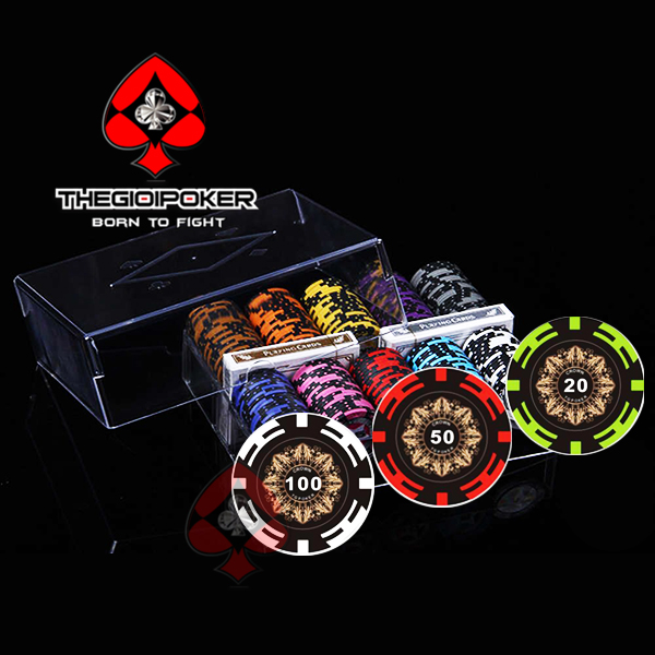 Set Poker 200 chip poker clay Crown cao cấp