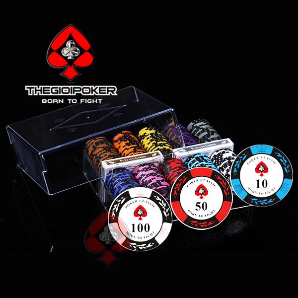 Set 200 chip poker clay classic cao cấp dành cho công đồng người chơi poker tại việt nam