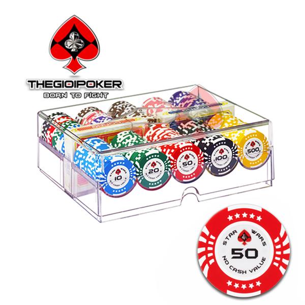 set 200 chip poker clay star wars được nhập khẩu và phân phối độc quyền bởi THEGIOIPOKER