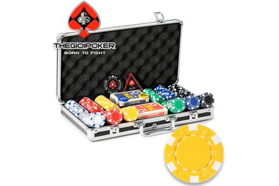 chip poker set striped dice 300 phỉnh poker không số