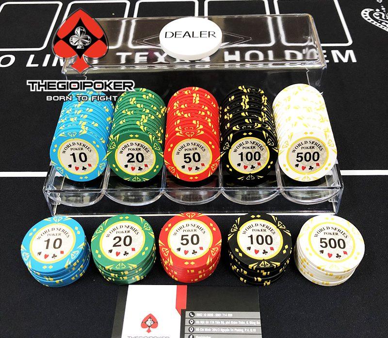 Phỉnh poker 100 chip World series poker