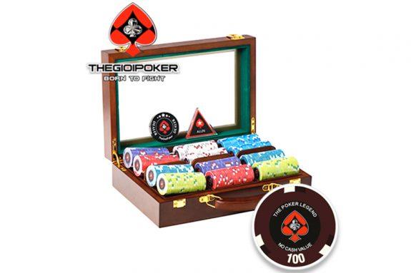 Chip poker ceramic legend kết hợp với hộp gỗ Luxury chính hãng được nhập khẩu bởi THEGIOIPOKER