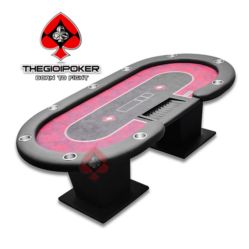 Bàn Poker Table chuyên nghiệp Trefle Red màu đỏ nổi bật