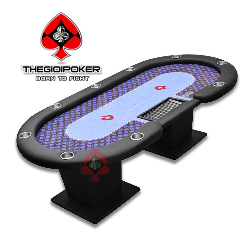 Bàn Poker chuyên nghiệp Suits Blue dành cho 10 người chơi