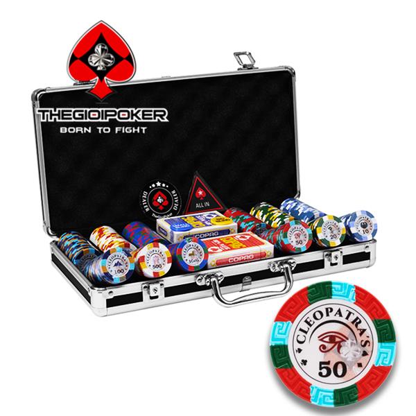 Chip poker clay 300 phỉnh poker CLEOPATRA mới nhất 2021 được nhập khẩu by THEGIOIPOKER