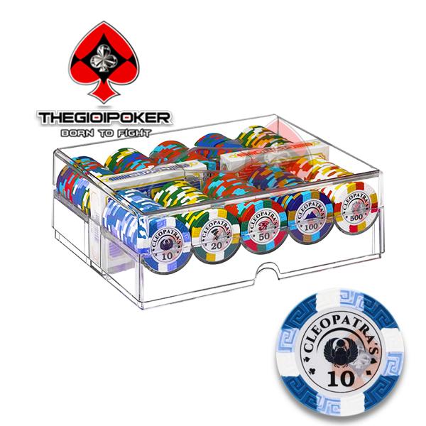 Poker chip set 200 phỉnh poker Clay Smith cao cấp nhập khẩu mới nhất năm 2021 bởi THEIGOIPOKER