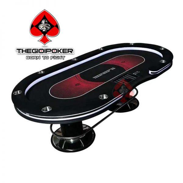 bàn poker chuyên nghiệp luxury Texas có gắn đèn LED cực đỉnh