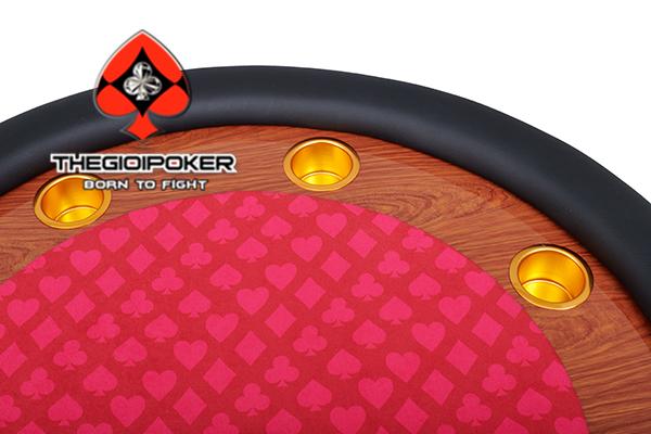 bàn Poker tròn cao cấp được thiết kế với cốc vàng đằng cấp