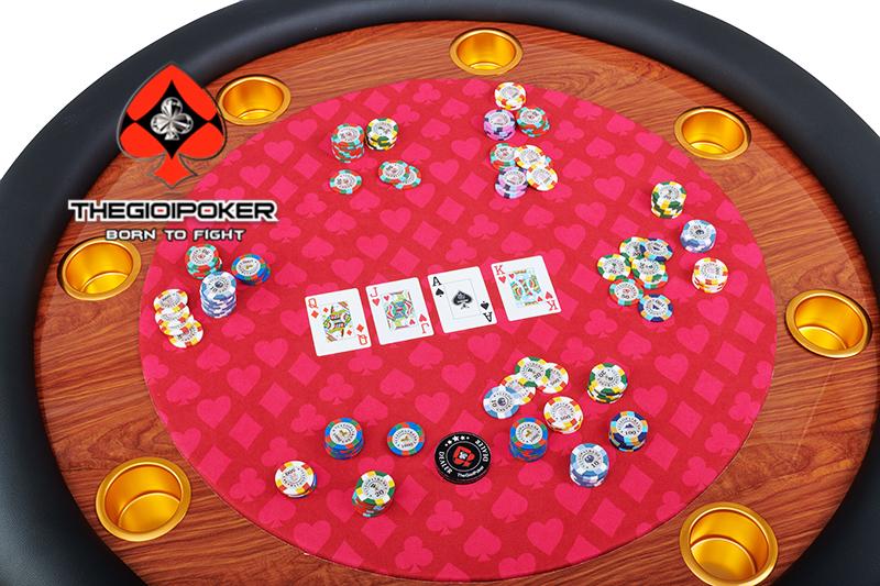 bàn poker tròn cao cấp custom by THEGIOIPOKER