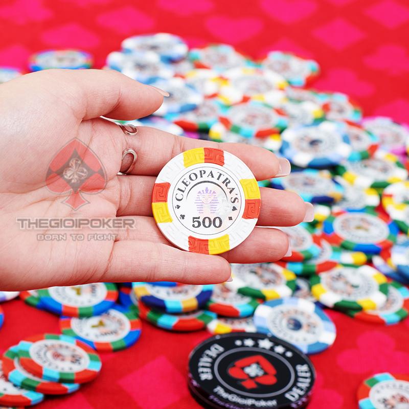 Chip poker Cleopatra chính hãng được nhập khẩu bởi Thegioipoker