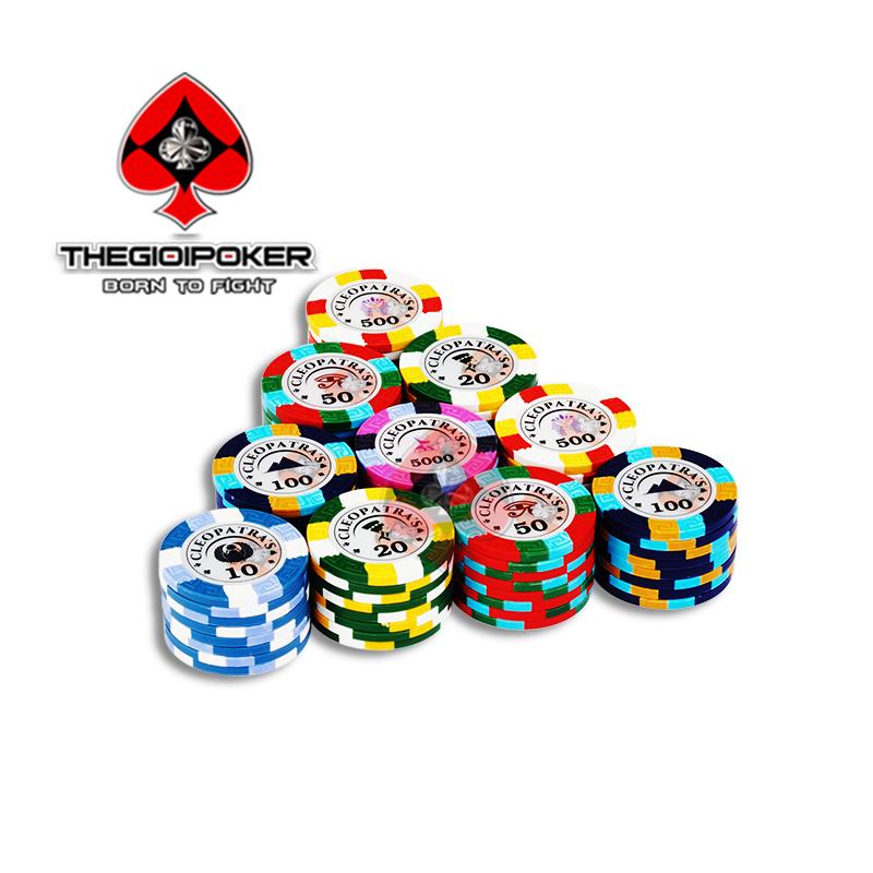 phỉnh poker clay cao cấp cleopatra mẫu mới nhất 2021