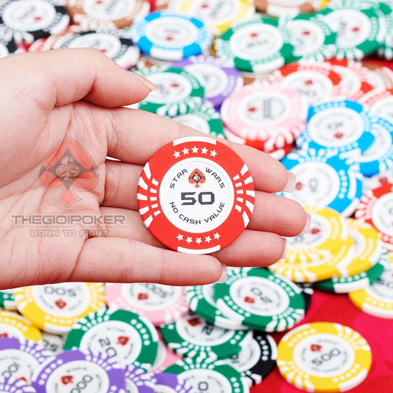 Phỉnh poker clay mệnh giá 50 của bộ poker star wars hot 2021