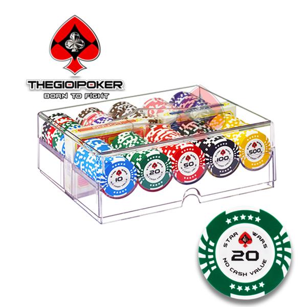 Poker chip set 200 phỉnh poker Clay Star Wars chính hãng được nhập khẩu bởi THEGIOIPOKER