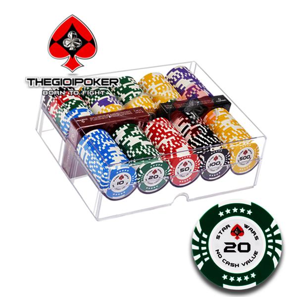 Set 200 chip poker clay star war mới nhất 2021