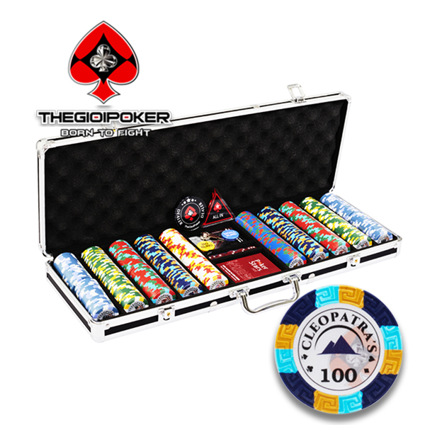 Set 500 chip poker clay cleopatra mới nhất 2021