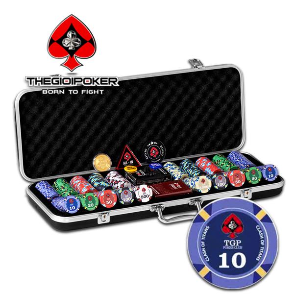 Set 500 Chip Poker Ceramic Cash of Titan Đẳng Cấp