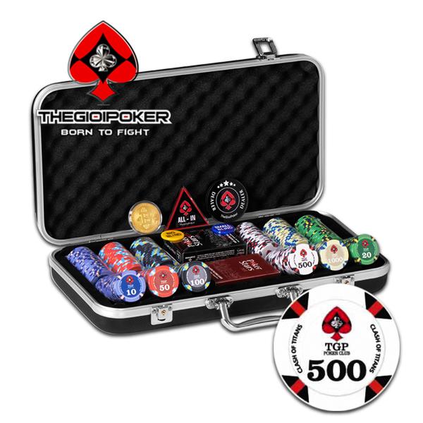 Bộ 300 chip poker Ceramic cao cấp được nhập khẩu và phân phối bởi TheGioiPoker