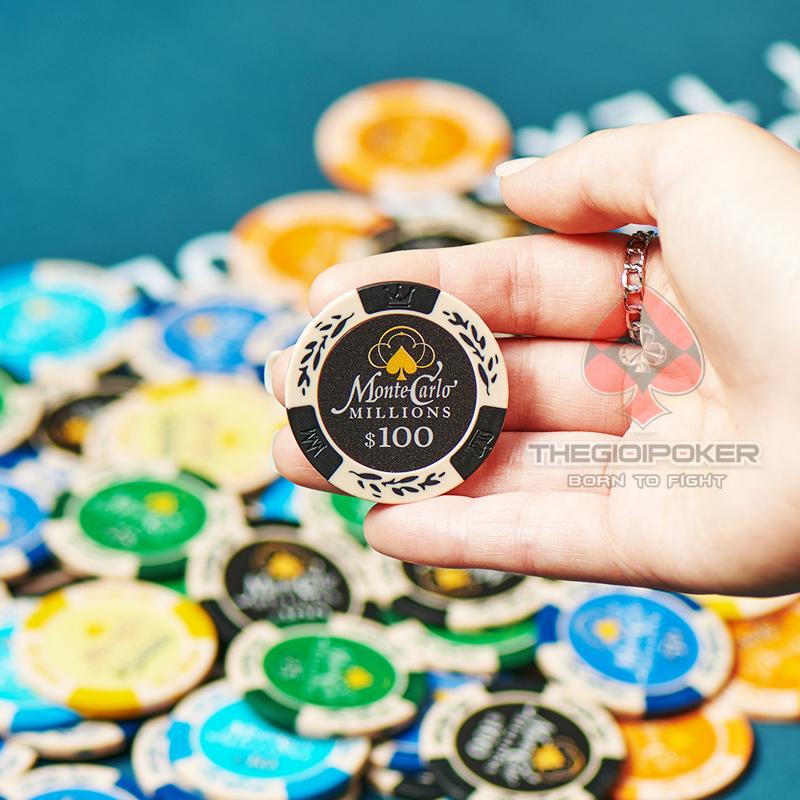 Chip Poker MonteCarlo được làm từ chất liệu Clay cao cấp