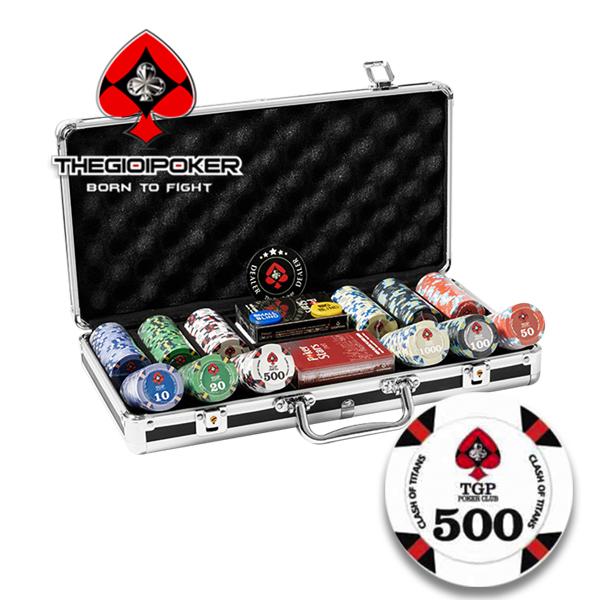 Chip Poker Ceramic Clash OF Titan đẳng cấp