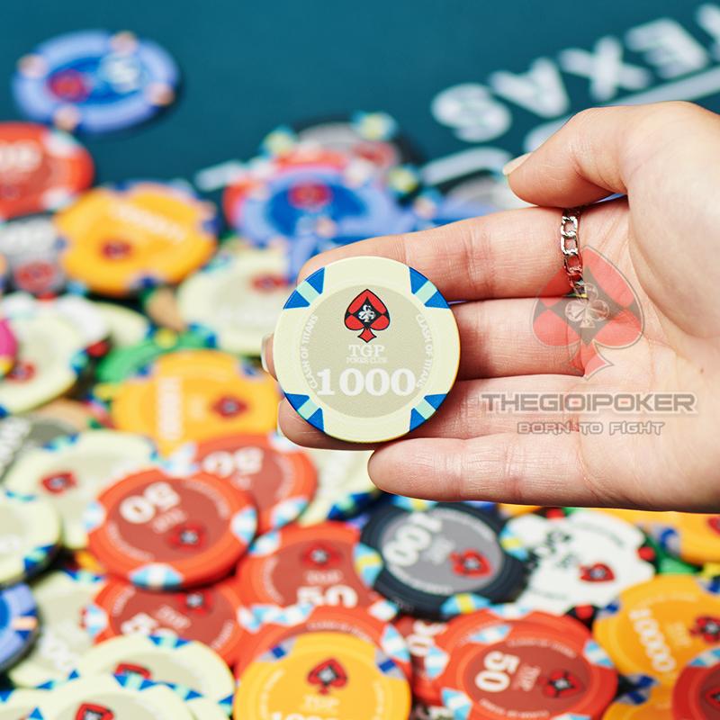 Chip Poker Ceramic Cao Cấp Mệnh Giá 1000 nổi bật