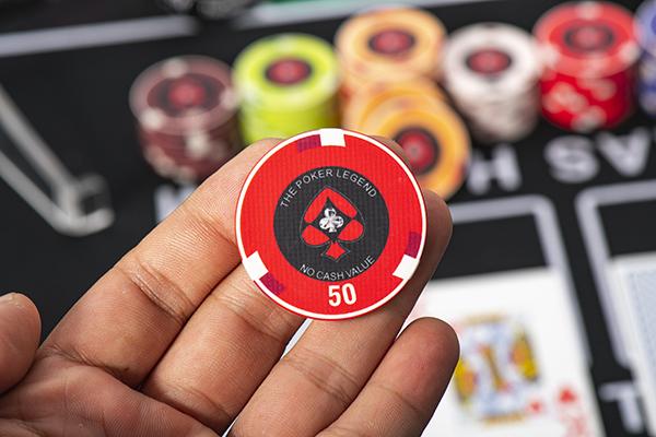Chip Poker Ceramic Legend được thiết kế tinh tế và đẳng cấp