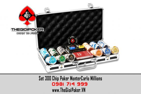 set 300 chip poker clay monteCarlo được nhập khẩu bởi THEGIOIPOKER