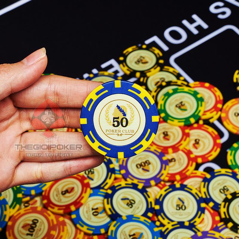 Chip Poker club patriots được làm từ chất liệu Clay composite