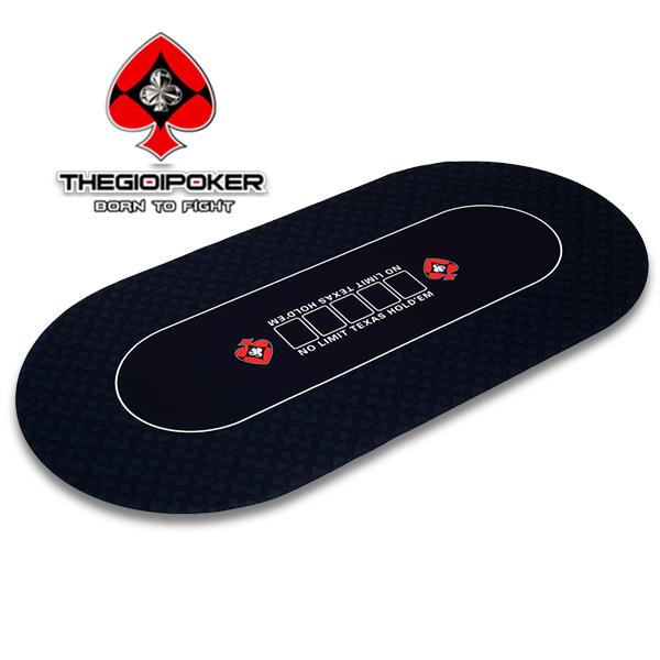 Thảm Poker V3 được thiết kế hình Oval khá phù hợp cho các loại bàn tại Việt Nam