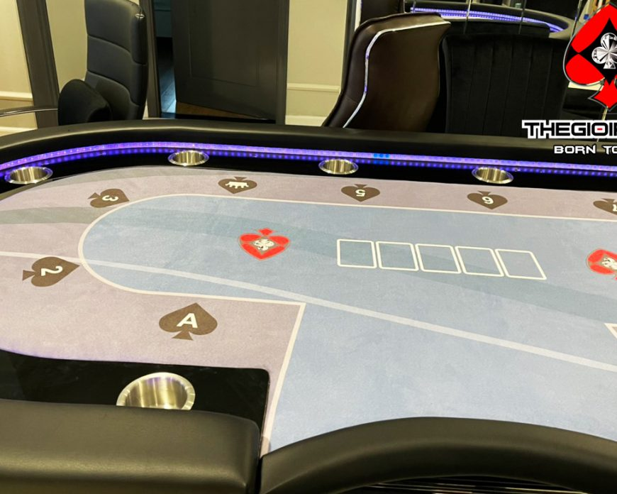 Bàn poker luxury custom theo phong cách cá nhân được thiết kế và thi công bởi TheGioiPoker