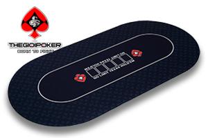 Thảm Poker cao su cao cấp Oval V3 Black