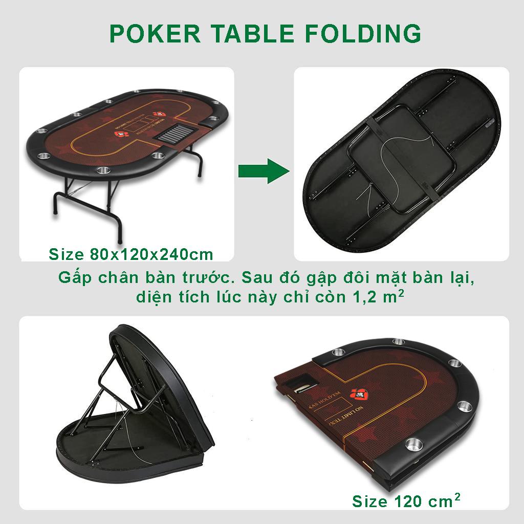 Cách sử dụng bàn poker Folding full option
