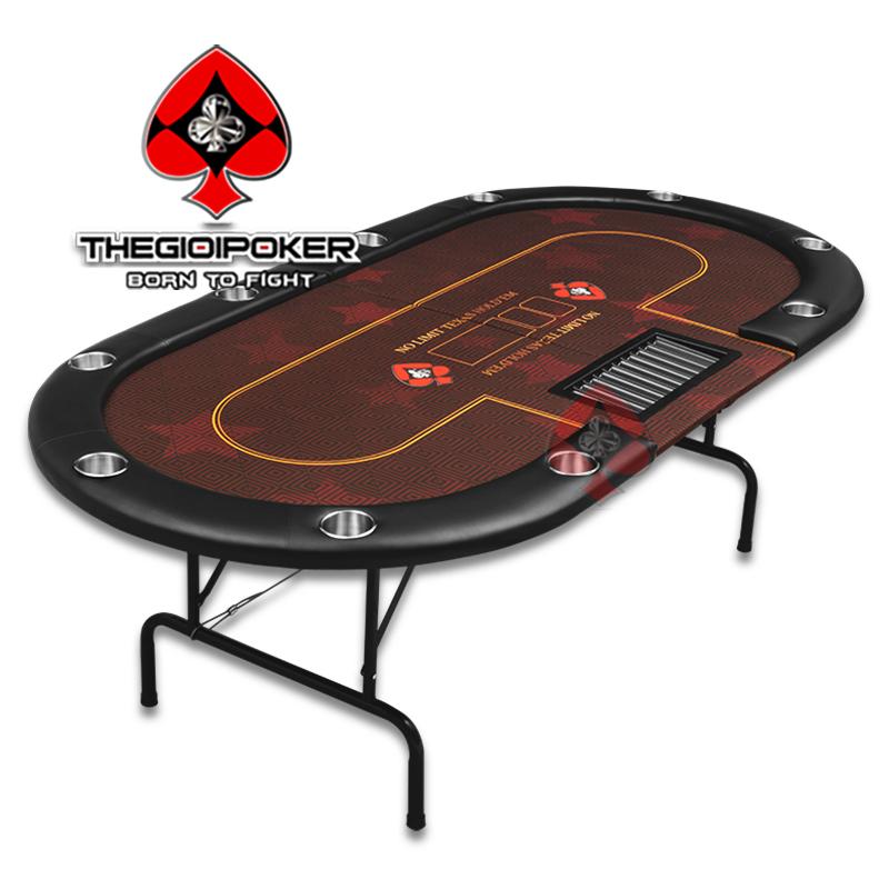 Poker table folding là loại bàn được nhập khẩu chất lượng cao chứ không giống những loại bàn poker gia công kém chất lượng trong nước