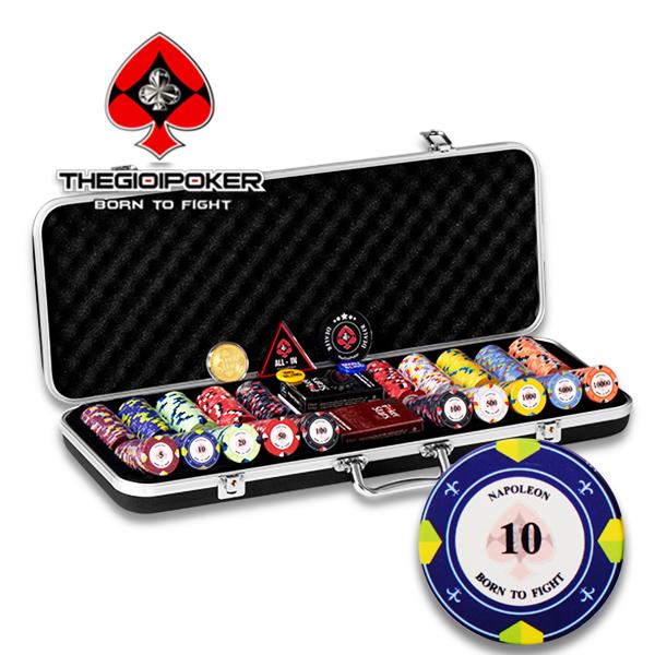 Set 500 chip Poker ceramic Napoleon cao cấp được nhập khẩu và phân phối độc quyền bởi TheGioiPoker