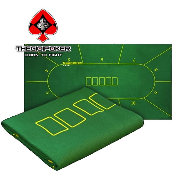 Thảm nỉ poker M1 với kích thước 90 x180cm dành cho 10 người chơi