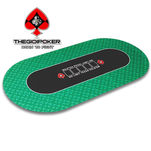 Thảm Poker cao su luxury Oval V5 Green được nhập khẩu bởi THEGIOIPOKER